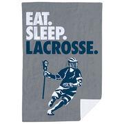 Guys Lacrosse Premium Blanket - Eat. Sleep. Lacrosse. Vertical
