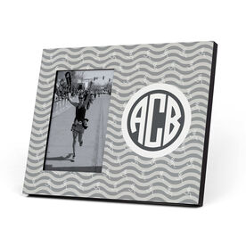 Running Photo Frame - Monogrammed Run Girl Waves