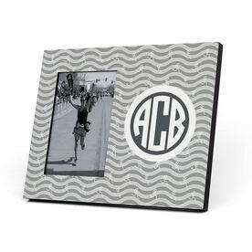 Running Photo Frame - Monogrammed Run Girl Waves