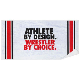 Wrestling Premium Beach Towel - Athlete By Design Wrestler By Choice
