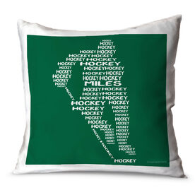 Hockey Throw Pillow Personalized Hockey Words Player