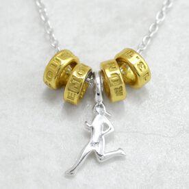Livia Collection Sterling Silver and 14K Gold Vermeil Half Marathoner Necklace