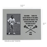 Guys Lacrosse Photo Frame - Dear Mom Heart