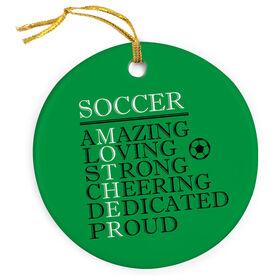 Soccer Porcelain Ornament - Mother Words