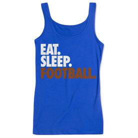 Football Women's Athletic Tank Top Eat. Sleep. Football.