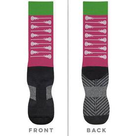 Girls Lacrosse Printed Mid-Calf Socks - Love Lax