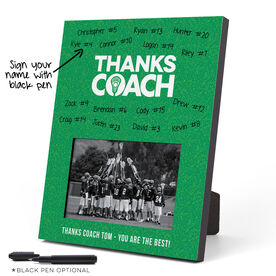 Guys Lacrosse Photo Frame - Coach (Autograph)