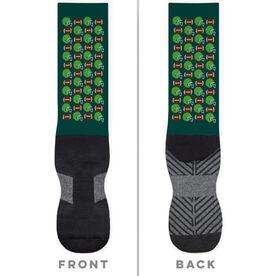 Football Printed Mid-Calf Socks - Football Pattern