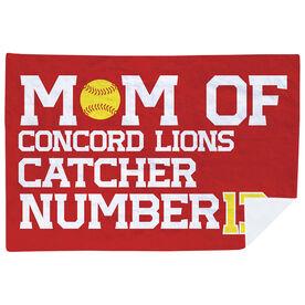 Softball Premium Blanket - Personalized Softball Mom