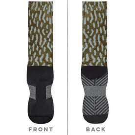 Fly Fishing Printed Mid-Calf Socks - Pike