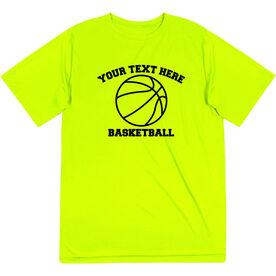 Basketball Short Sleeve Performance Tee - Custom Basketball