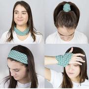 Multifunctional Headwear - Chevron Teal RokBAND
