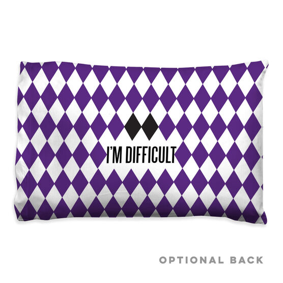 Skiing & Snowboarding Pillowcase - I'm Difficult