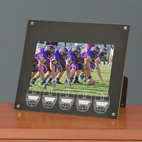 Football Photo Display Frame Football Helmets