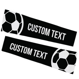Soccer Printed Arm Sleeves - Soccer Ball with Text