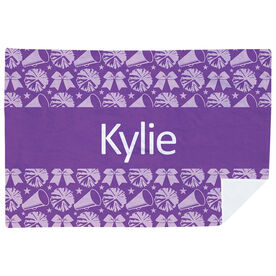 Cheerleading Premium Blanket - Personalized Cheer Stripe