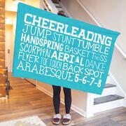 Cheerleading Premium Blanket - Cheer Words
