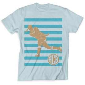 Vintage Field Hockey T-Shirt - Shootout Stripes With Monogram