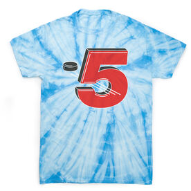 Hockey Short Sleeve T-Shirt - 5 Hole Tie Dye