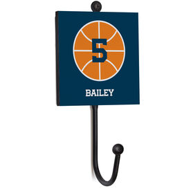 Basketball Medal Hook - Basketball With Name and Number