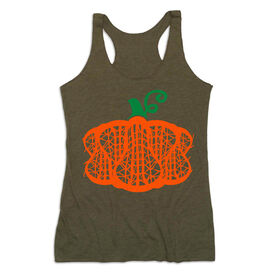Girls Lacrosse Women's Everyday Tank Top - Lax Stick Pumpkin