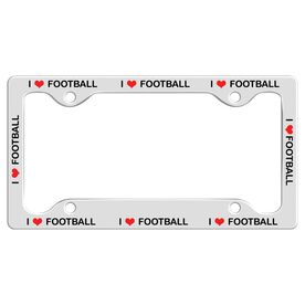 I Love Football License Plate Holder