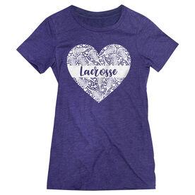 Girls Lacrosse Women's Everyday Tee - Lacrosse Heart