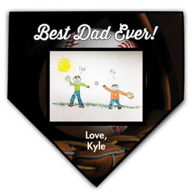 Baseball Home Plate Plaque Your Artwork With Glove Background