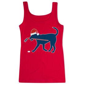 Hockey Women's Athletic Tank Top Christmas Dog