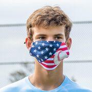 Baseball Face Mask - USA Flag