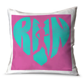 Running Throw Pillow Love The Run