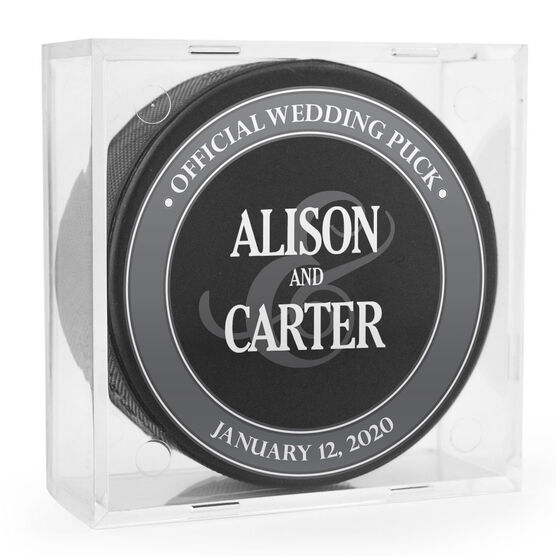 Personalized Hockey Puck - Official Wedding Puck