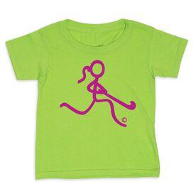 Field Hockey Toddler Short Sleeve Tee - Neon Field Hockey Girl