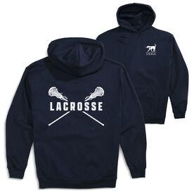 Girls Lacrosse Hooded Sweatshirt - Crossed Girls Sticks (Logo Collection)