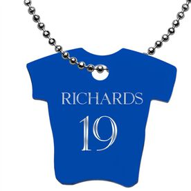 Engraved Personalized Jersey Dog Tag Necklace