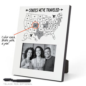 Photo Frame - States We've Traveled Outline