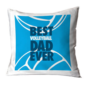Volleyball Throw Pillow Best Dad Ever