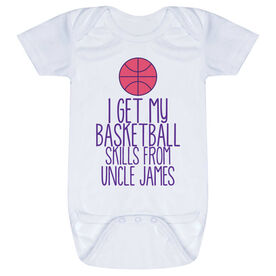 Basketball Baby One-Piece - I Get My Skills From