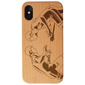 Wrestling Engraved Wood IPhone® Case - Wrestlers