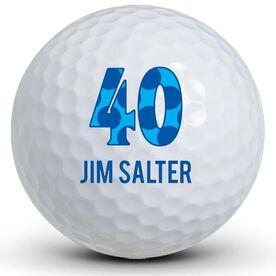 Happy Birthday Number & Name Golf Balls