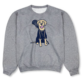 Guys Lacrosse Crew Neck Sweatshirt - Riley The Lacrosse Dog