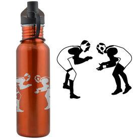 Wrestler Silhouette 24 oz Stainless Steel Water Bottle
