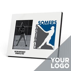 Baseball Photo Frame - Custom Logo