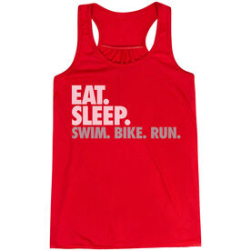 Flowy Racerback Tank Top - Eat. Sleep. Swim. Bike. Run.