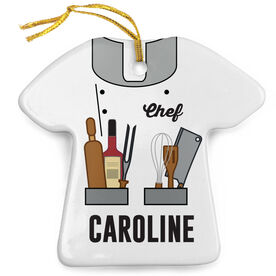 Personalized Porcelain Ornament - Chef Outfit