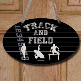Track and Field Decorative Oval Sign Track and Field Silos