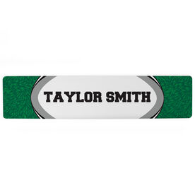 """Rugby Aluminum Room Sign - Your Name Rugby (4""""x18"""")"""