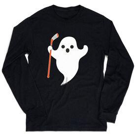 Hockey Tshirt Long Sleeve - Hockey Ghost