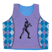 Softball Racerback Pinnie - Batter With Argyle