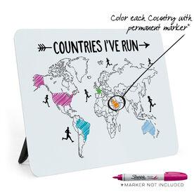 Running Desk Art - Countries I've Run Outline